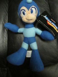 "mega man powered up plush stuffed doll good stuff with tag 8"""