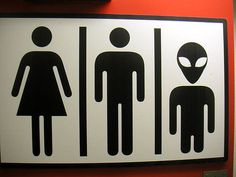 Why make anyone feel alienated when they gotta go? | 17 Of The Most Fabulous Gender Neutral Bathroom Signs