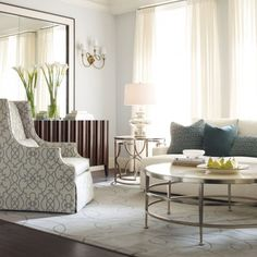 Bernhardt Upholstered Accents Darbin Transitional Wing Chair with Contemporary Arms - Belfort Furniture - Wing Chair Living Room Sets, Living Room Modern, Interior Design Living Room, Living Room Furniture, Home Furniture, Living Room Decor, Living Area, Living Spaces, Houses
