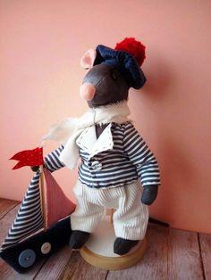 Textile toy Rat,Toy Mouse,  Miniature Doll rat ,Plush mouse  Handmade textile toy rat ,Soft Rat ,Stuffed Toy, Pet Rat  Rat teddy,Mouse teddy