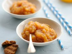 Compote de pomme, orange et caramel #recette #compote #fruit #facile