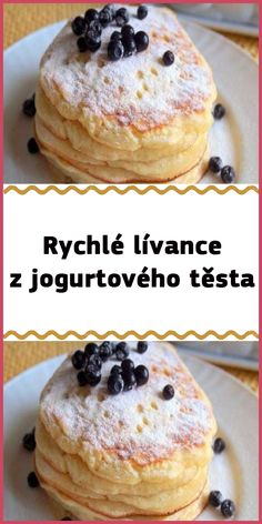Sweet Recipes, Cake Recipes, Czech Recipes, Food Art, A Table, Pancakes, Food And Drink, Sweets, Snacks