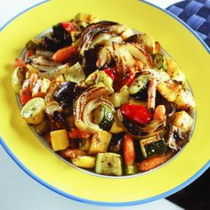 Oven Roasted Veggies. (Minus the carrots for SBD, maybe add in sweet potato)