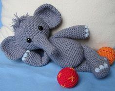 elefante decorativo em croche