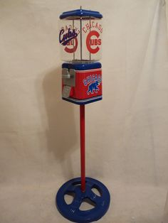 Chicago Cubs gumball machine + Ford stand