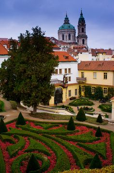 The Vrtbovska Garden, Prague, Czech Republic - One of my favorite places in Praha, the peacocks and owls in the garden were beautiful!