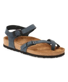 Loving this Navy Gabriella Leather Sandal - Women on #zulily! #zulilyfinds