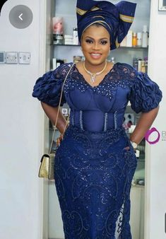 Enchanting aso ebi styles that will inspire you - Opera News Official African Party Dresses, African Lace Dresses, African Clothes, Ankara Styles For Women, African Lace Styles, Lace Dress Styles, Latest African Fashion Dresses, Nigerian Fashion, Latest Outfits