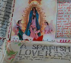 Mary Ann Moss: Stencil, then line of shadow. Part of her Cristobal-de-las-casas travel journal