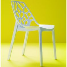 Spider stackable chair by Bontempi in white polycarbonate