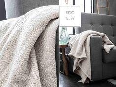 Luxusné bavlnené deky v krémovej farbe