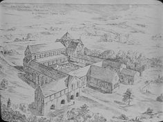 Artist Impression of Kirkstall Abbey