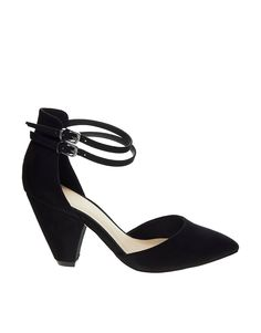 Heels by ASOS CollectionFaux suede upperDouble ankle strap Pin buckle fasteningsLow vamp and pointed toe Durable, flat sole Cone heelABOUT ASOS COLLECTIONDirectional, exciting and diverse, the ASOS Collection makes and breaks the fashion rules. Scouring the globe for inspiration, our London based Design Team is inspired by fashion's most covetable trends; providing you with a cutting edge wardrobe season upon season.