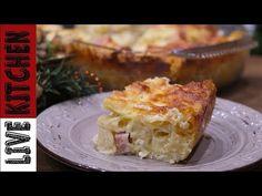 Γρήγορες συνταγές!! - Λαχταριστό Σουφλέ - Delicious pasta souffle - Live Kitchen - YouTube Souffle Recipes, Kitchen Living, Food For Thought, Lasagna, Quiche, Casserole, French Toast, Recipies, Pasta
