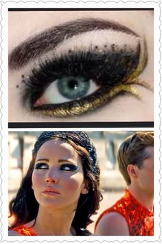 Katniss makeup. Gotta try this!! LOVE #CatchingFire #MakeUp