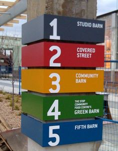 wayfinding system will help students navigate new new wayfinding system will help students navigate new schools new center Directional Signage, Wayfinding Signs, Event Signage, Environmental Graphic Design, Environmental Graphics, Hospital Signage, Ecole Design, Sign System, Displays