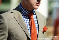橘色領帶 深藍色襯衫 - Google 搜尋