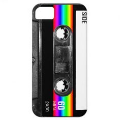 Cassette w/Black and Rainbow Stripe Label iPhone 5/5S Cover