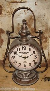 Ferrovia-LANTERN-Table-Desk-CLOCK-Train-Paddington-Station-Londra-Double-Sided