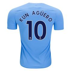 Nike Sergio Aguero Manchester City Authentic Home Jersey 17/18