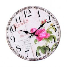 Wooden clock image ROSE. Fi 34 cm