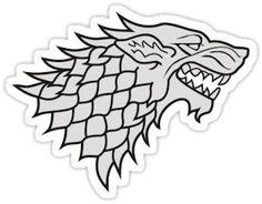 Game Of Thrones House Stark Logo Sticker