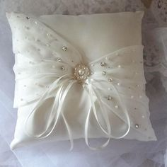 Ivory Satin Ring Pillows Real Photos High Quality Crystal Beaded Bridal Wedding Ring Pillow from Ellabridal,$24.09 | DHgate.com