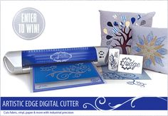 Artistic Edge Digital Cutter: Cuts Fabric, Vinyl, Paper & More With Industrial Precision – Enter to Win One! Contest runs until midnight PT January 16, 2015 | Sew4Home