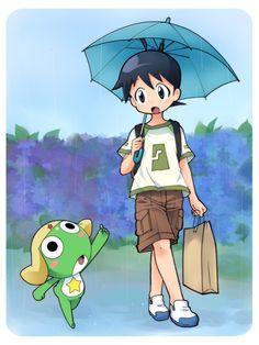 Sergeant Frog - Keroro and Fuyuki #keroro_gunso
