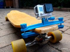 """""""Whoa man!"""" """"Cowabunga dude!"""" """"Ow I just fell on my face!"""" Capture the sights and sounds of your latest tricks with a GoPro attached to your board via daGHIZmo's Longboard Clamp. Put on your helmet and print this thing today."""