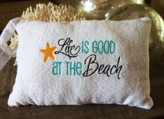 Everyday in Florida should feel like this ~ terrycloth Beach Pillow by TheNextSewAround