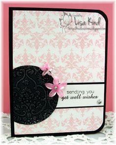 clean & simple get well card by Lisa Kind