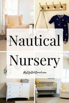 Nautical Nursery Decor // My Life Well Loved // Heather Brown at My Life Well Loved // MyLifeWellLoved // Nursery Ideas // Baby Room