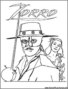 Zorro Coloring Pages Online