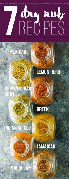 7 Easy Dry Rub Recipes for Meat or Veggies.