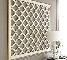 Lattice Panel Wall Art ::: PB ( Love How They Used It As A Headboard On Other Photos!!! )