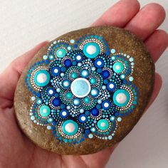 Big Dot Art Mandala Painted Stone Fairy Garden by CreateAndCherish