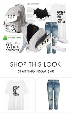 """""""SHOP - Backpack Garden"""" by ladymargaret ❤ liked on Polyvore featuring Zadig & Voltaire and Vans"""