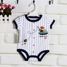 CBH099A Chardon Daddy-and-me Baseball Onesie $9.50  Onesie with front snap buttons, great for bonding activities with Daddy!   100% cotton  6-9 mths 9-12 mths 12-18 mths 18-24 mths