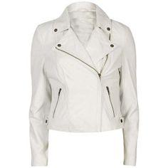 Women white leather jacket women leather by Myleatherjackets, $149.99