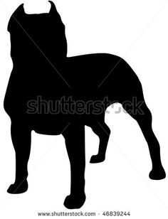 stock-photo-american-staffordshire-terrier-silhouette-46839244.jpg 360×470 pixels