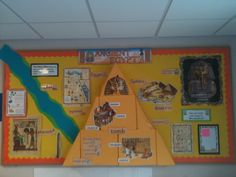 Ancient Egypt Ancient Egypt Lessons, Ancient Egypt Activities, Ancient History, Classroom Wall Displays, School Displays, Classroom Ideas, Ancient Egypt Display, Egyptian Crafts, World Thinking Day