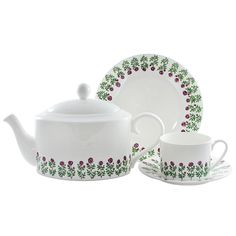 Roses Bone China Cup and Saucer by Wiggles & Florence – McGovern Home