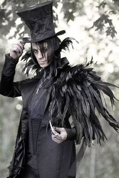 fairytalefashion:  Mad T Party NeoVictorian coat by Pandamoniom on Etsy This made me immediately think of the Raven King from Jonathon Strange and Mr. Norrel.