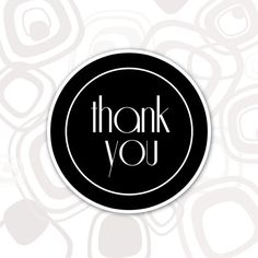 Round Thank You Label by Limprime on Etsy Round Logo Design, Thank You Labels, Trending Outfits, Accessories, Etsy, Thank You Tags, Jewelry Accessories