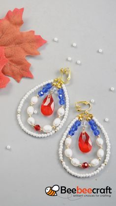 idea for the production of # rings with # pearls and # crystal pearls – ruby jewelry Beaded Earrings Patterns, Diy Earrings, How To Make Earrings, Hoop Earrings, Bracelet Crafts, Jewelry Crafts, Handmade Jewelry, Jewelry Bracelets, Do It Yourself Jewelry