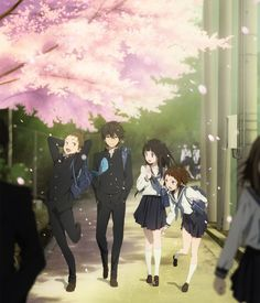 Hyouka is a lovely slice-of-life anime with beautiful art style by KyotoAni.