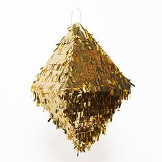 HIPPENINGS METALLIC GEOMETRIC PINATA - GOLD (Talking Tables) Wedding or party prop