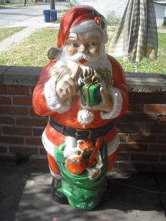 blow mold vintage santa | c h r i s t m a s | Pinterest | Blow ...