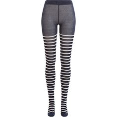 Sonia Rykiel Striped Tights ($179) ❤ liked on Polyvore featuring intimates, hosiery, tights, legs, stockings, blue, blue striped tights, blue stockings, blue striped stockings and striped pantyhose